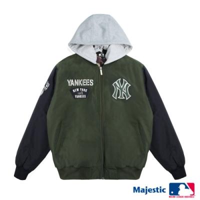 MLB-進擊可拆式連帽外套-軍綠 (男)