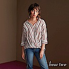 beartwo 跳色直條開襟造型襯衫(二色)