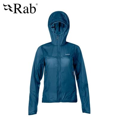 【英國 RAB】Vital Windshell Hoody Woman 輕量防風防潑水連帽外套 女款 墨藍 #QWS40