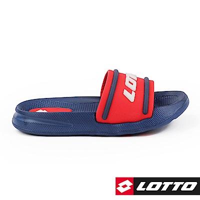 LOTTO 義大利 童  Summer Play 兒童輕量拖鞋 (藍紅)