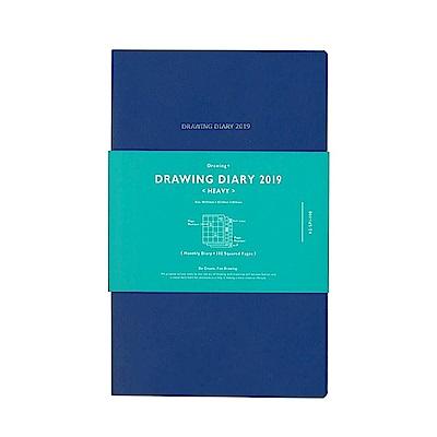 KOKUYO Drawing Diary  2019 手帳 (Heavy)-藍