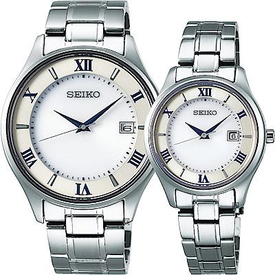 SEIKO 精工 SPIRIT SMART 太陽能鈦金屬對錶-40+29mm V157-0CZ0S+V137-0DG0S