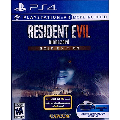 惡靈古堡7:生化危機黃金版Resident Evil 7-PS4中英日文美版