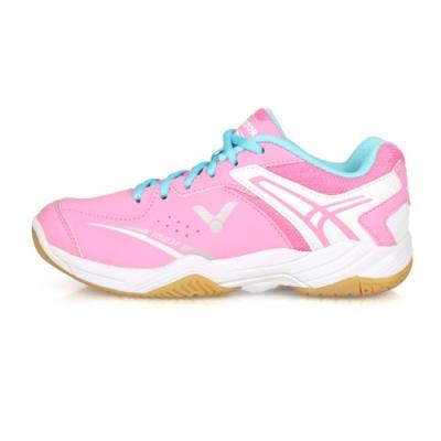 VICTOR 女 羽球鞋 粉紅白水藍