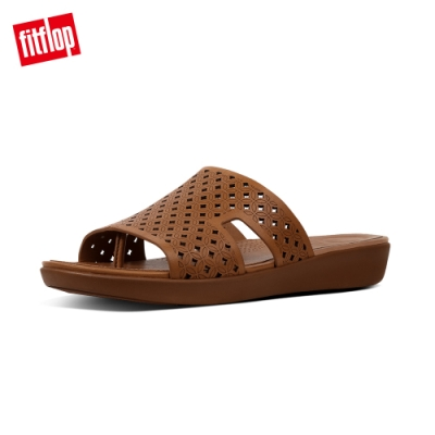 FitFlop H-BAR SLIDE SANDALS 焦糖色