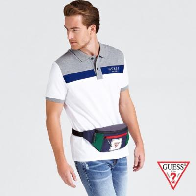 GUESS-男包-撞色時尚腰包-深藍