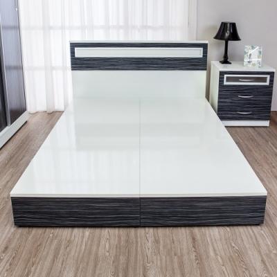 Birdie南亞塑鋼-3.5尺單人塑鋼床底(不含床頭片)(鐵刀木色)