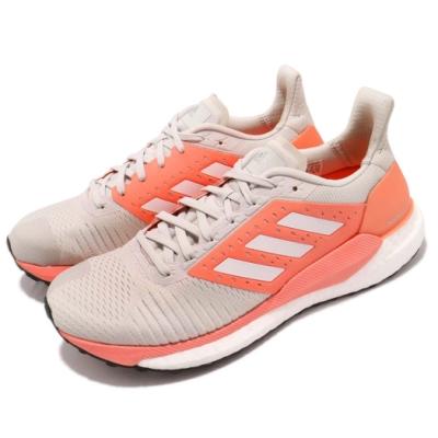 adidas 慢跑鞋 Solar Glide ST 運動 女鞋 愛迪達 路跑 健身 避震 透氣 球鞋 粉 灰 BB6615
