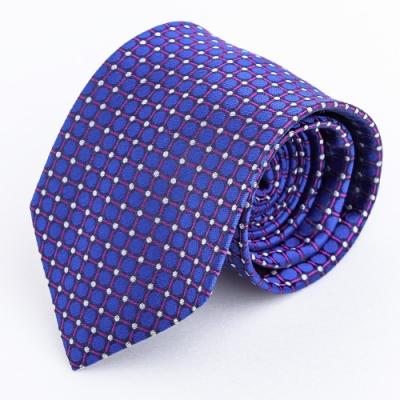 普普風幾何蠶絲領帶_圓點方格(YT5096)