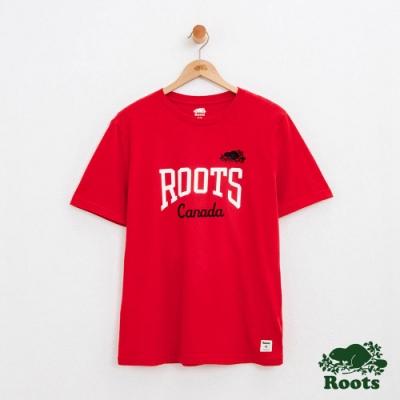 男裝Roots 聯合休閒短袖T恤-紅