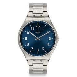 Swatch 超薄金屬手錶 SKIN SUIT BLUE -42mm