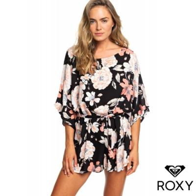 【ROXY】LOIA BAY DRESS 絲質印花洋裝 黑