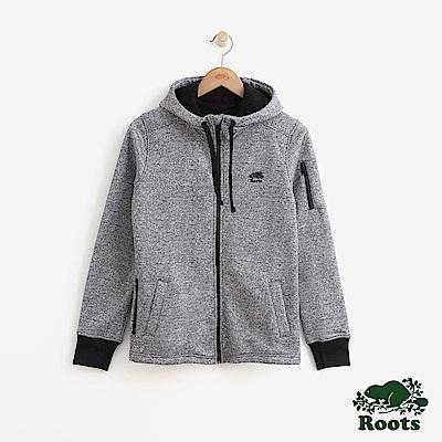 女裝Roots - 複合材質連帽外套-灰色