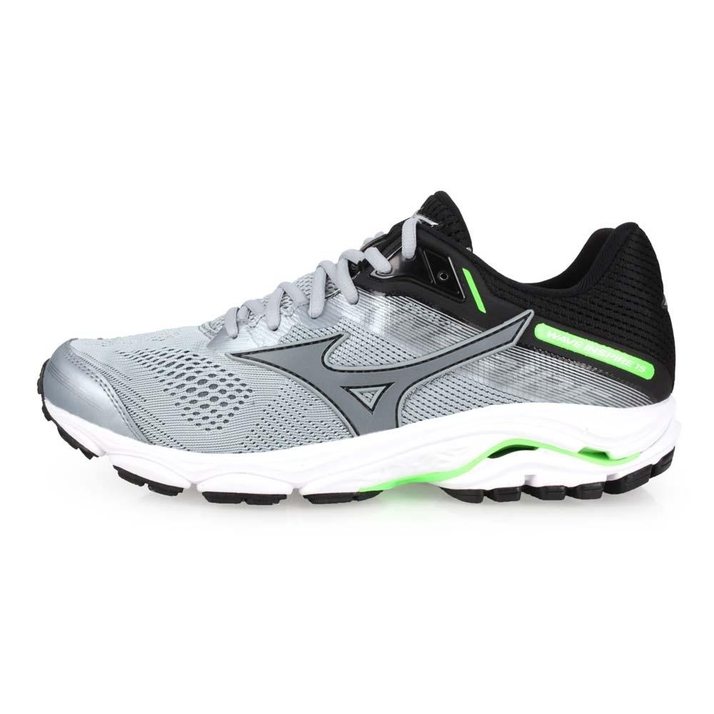 MIZUNO WAVE INSPIRE 15 男慢跑鞋-路跑  灰黑綠