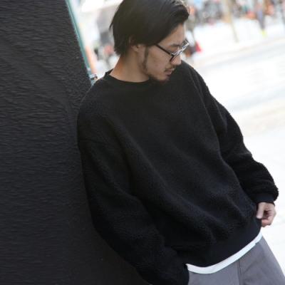 ZIP日本男裝 仿羊絨運動衫絨毛大學T(7色)