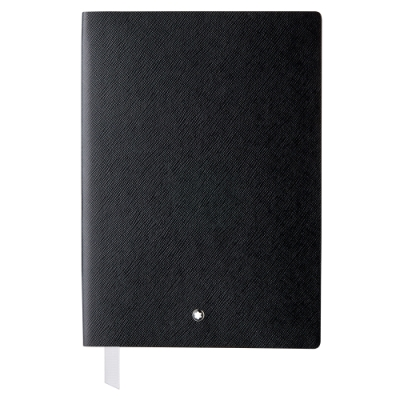 MONTBLANC 萬寶龍 真皮筆記本 - A5橫線/黑色