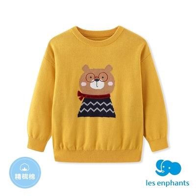 【麗嬰房】EASY輕鬆系列  小童小熊線杉-黃色(86cm~130cm)