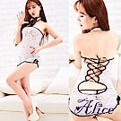 Alice旗袍制服誘惑成人女束胸式睡衣短裙(AK007)