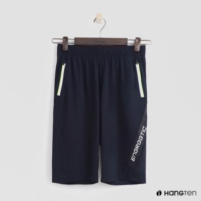 Hang Ten-童裝活力標語運動短褲-深藍