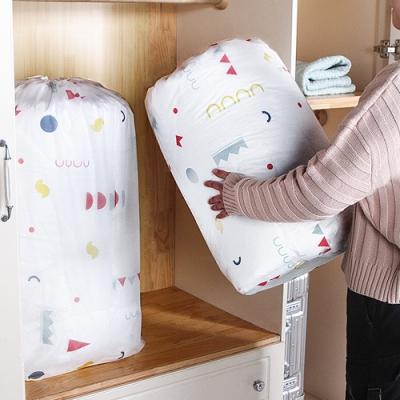 E.City_(2入)PEVA圓形束口搬家袋衣物棉被袋收納袋