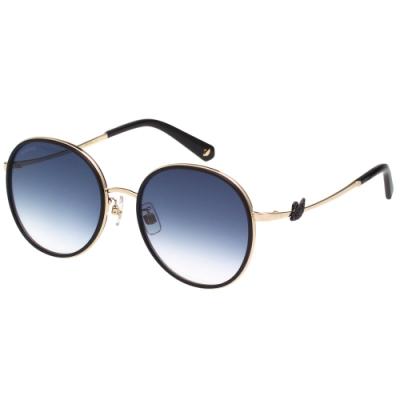 SWAROVSKI 廣告款 水鑽 太陽眼鏡(黑色)SK252K