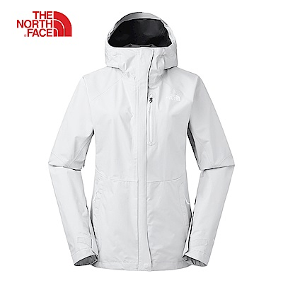 The North Face北面女款灰色防水透氣衝鋒衣|3V989B8