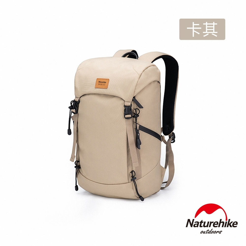 Naturehike Regen 20L休閒兩用戶外旅行防潑水後背包 卡其色-急