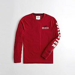Hollister HCO  長袖 T恤 紅 1094