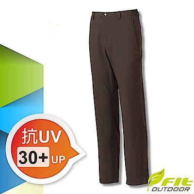 FIT 男新款 彈性吸排抗UV經典長褲_GS1802 墨綠色
