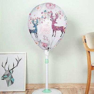 半島良品 簡約時尚全罩式電風扇防塵罩- 夢幻小鹿