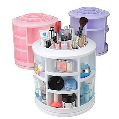 AA058 大尺寸360度旋轉化妝品收納盒 化妝盒梳妝臺整理櫃