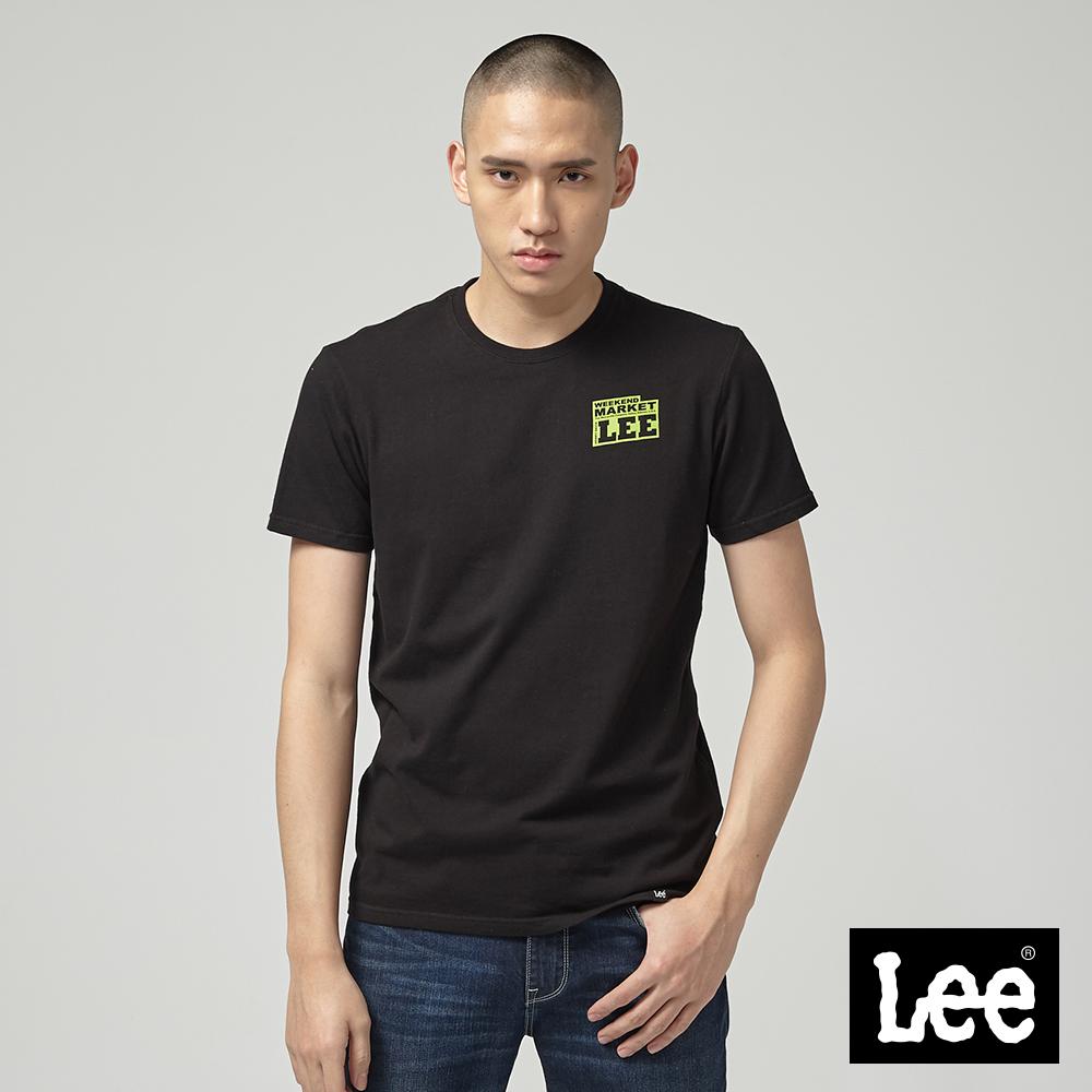 Lee MARKET LEE小LOGO短袖圓領T恤-黑
