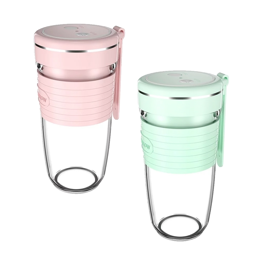 HANSHOW 充電式可攜式迷你電動榨汁杯(粉紅/粉綠)