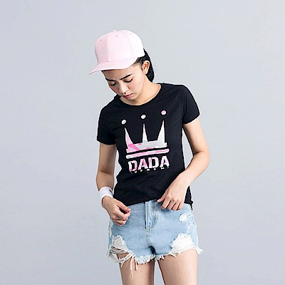 DADA SUPREME 迷宮圖騰LOGO T-shirt-女-黑