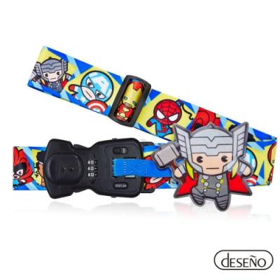 Marvel 漫威英雄Q版秤重行李箱束帶III-索爾
