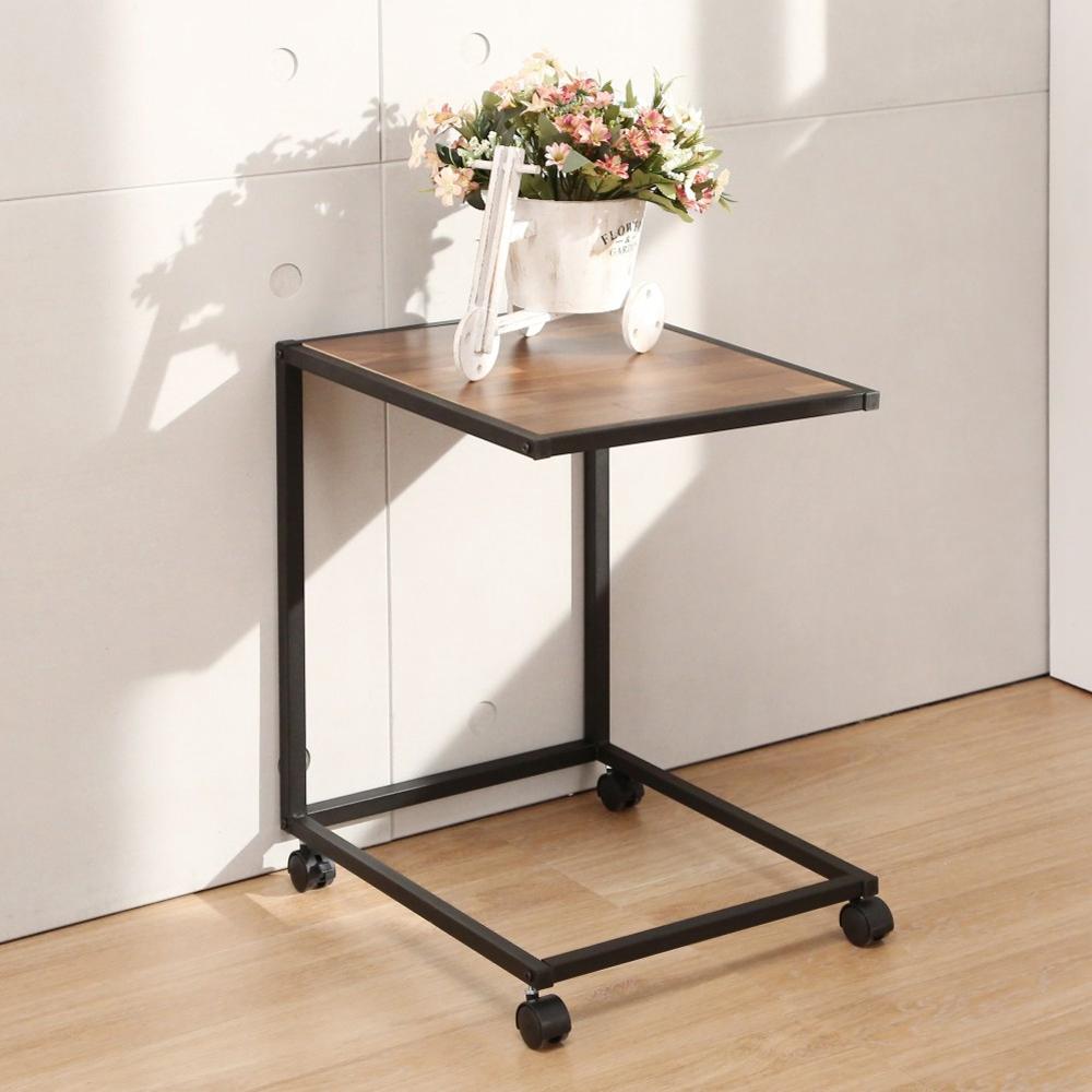 LOGIS  LOFT工業風隨行邊桌 美式 活動桌 滑輪桌 便利桌