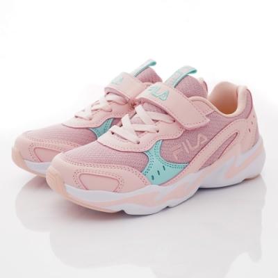 FILA頂級童鞋 復古老爹鞋款 EI03T-223粉(中大童段)
