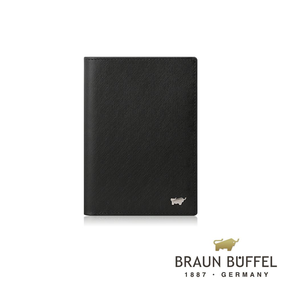 BRAUN BUFFEL 德國小金牛 -HOMME-M系列3卡護照夾 - 黯黑