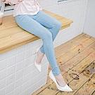 修長美腿雪花刷色鬆緊窄管褲-OB大尺碼
