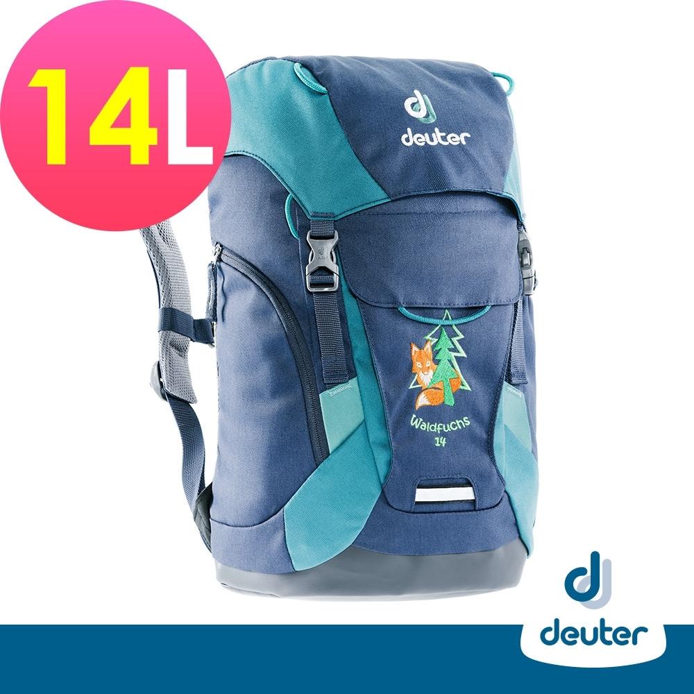 【deuter德國】Waldfuchs 14L兒童背包/書包/旅遊包3610117深藍湖綠