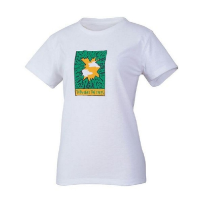 MILLET 女 HUGO TREE&CLOUD 排汗短袖T恤 米白-MIV017886584
