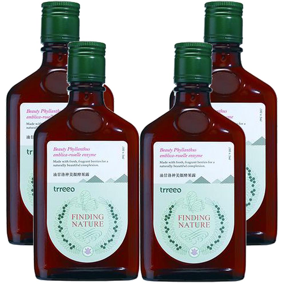 樹重奏 油甘洛神美顏酵果露4瓶組(190±5ml/瓶)