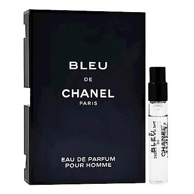 CHANEL 香奈兒 Bleu 藍色 男性淡香精 原裝針管小香 1.5ml