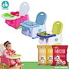 Creative Baby攜帶式輔助小餐椅(三色任選)+有機米餅3包