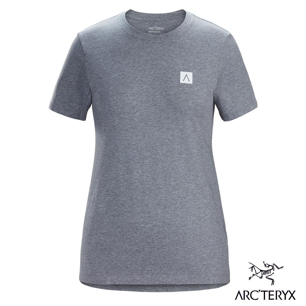 Arcteryx 始祖鳥 女 24系列 A Squared 有機棉 短袖休閒Tee 衛星雜灰