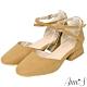 Ann'S重塑芭蕾-繫帶前交叉小方頭低跟鞋-黃 product thumbnail 1