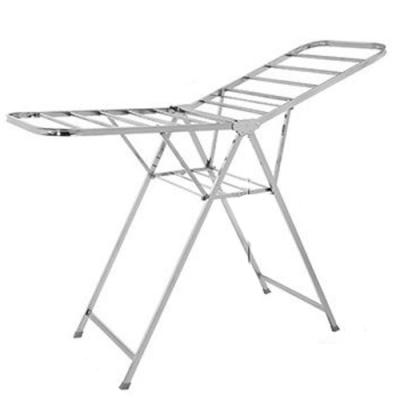 CC817-A 不鏽鋼 翼型折疊曬衣架 管徑加厚 蝶形晾衣架 落地式折疊翼型曬衣架