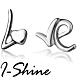 I-Shine-LOVE字母-愛心英文字母造型耳環AH04 product thumbnail 1