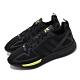 adidas 休閒鞋 ZX 2K Flux 低筒 男鞋 愛迪達 三葉草 透氣 球鞋穿搭 黑 黃 FV8486 product thumbnail 1