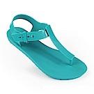 巴西品牌 女 繽紛原色T字涼鞋-藍色